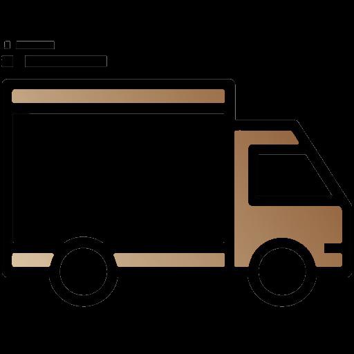 """Logo """"livraison suivie"""" (camion roulant)"""