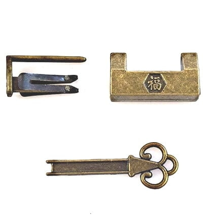 Système mécanique de fermeture de la boîte à bijoux 'Folklore chinois' (3 pièces)