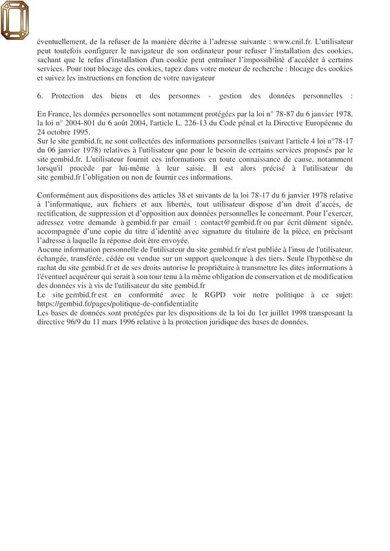 mentions légales 2/2