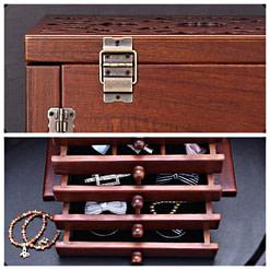collage de 2 photos : tiroirs et charnières arrières de la boîte