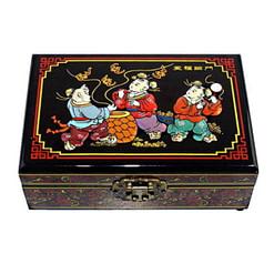 Vue du dessus de la boîte 'Folklore chinois' représentant 3 personnages