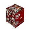 Vue de 3/4 de la boîte à bijoux originale 'petite tour' (fermée)
