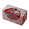 Vue de 3/4 de la boîte à bijoux originale '2 cubes rouges' (fermée)