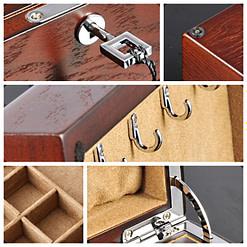 Collage de cinq photos détaillant l'intérieur & l'extérieur de l'objet