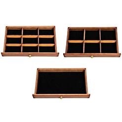 3 exemples de tiroirs (vides) sont présentés