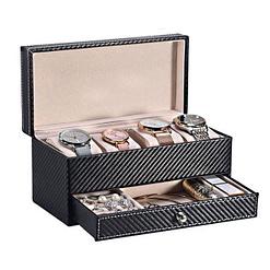 Vue de 3/4 de la boîte à bijoux zébrée (ouverte)