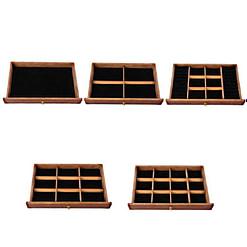 Photos des tiroirs de la boîte à bijoux à 5 tiroirs
