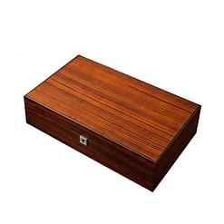 Vue de 3/4 de la boîte à bijoux plateau et montres (fermée)