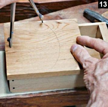 Traçage du couvercle de la boîte à bijoux avant découpe