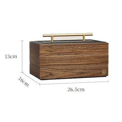 Dimensions (en cms) de la boîte à bijoux en bois à compartiments