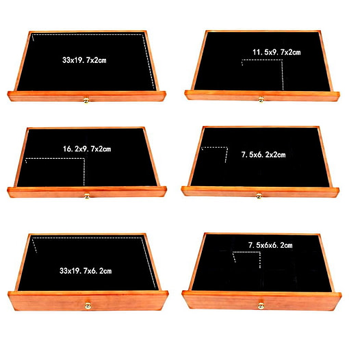 Dimensions des tiroirs de la grande boîte à bijoux à 12 tiroirs