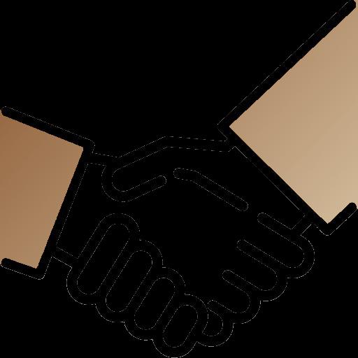"""Logo """"satisfait ou remboursé"""" (2 mains serrées)"""