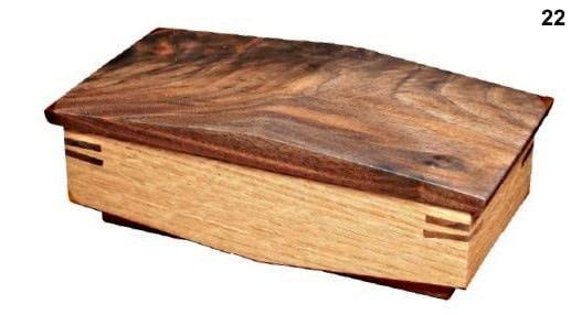 Photo d'une variante de la boîte à bijoux, avec un couvercle de forme