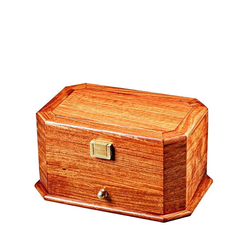 Boîte à bijoux en bois 'émeraude', fermée