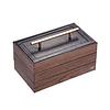 Vue de 3/4 de la boîte à compartiments (couvercle fermé)