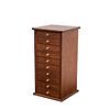 Vue de 3/4 de la grande boîte à bijoux à 10 tiroirs (fermée)