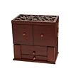 Vue de 3/4 de la grande boîte à bijoux à compartiments (fermée)