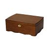 Vue de 3/4 de la boîte à bijoux en bois 'vintage marron' (fermée)