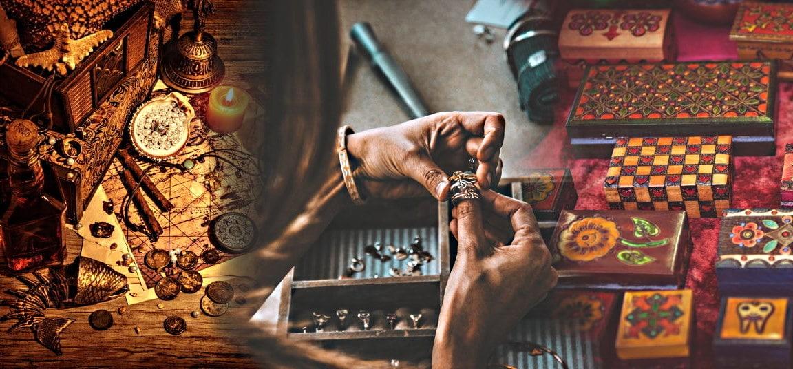 """Collage de photos présentant la collection """"boîtes à bijoux originales"""" de Gembid"""