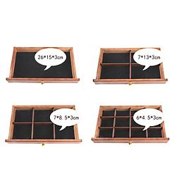 Photos des tiroirs de la boîte à bijoux à 4 tiroirs