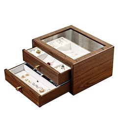 Boîte à bijoux bois présentoir (ouverte)