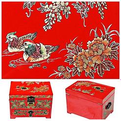Détails de la boîte à bijoux originale 'canards mandarins'