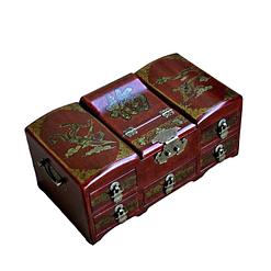 Vue de 3/4 de la boîte à bijoux originale 'commode' (fermée)