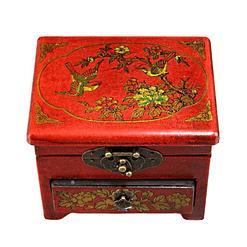 Vue de dessus de la boîte à bijoux originale 'mésanges'