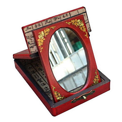 Vue de 3/4 de la boîte à bijoux originale simple (ouverte)