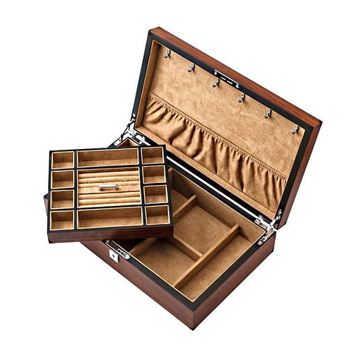 Compartiments de la boîte à bijoux plateau et montres