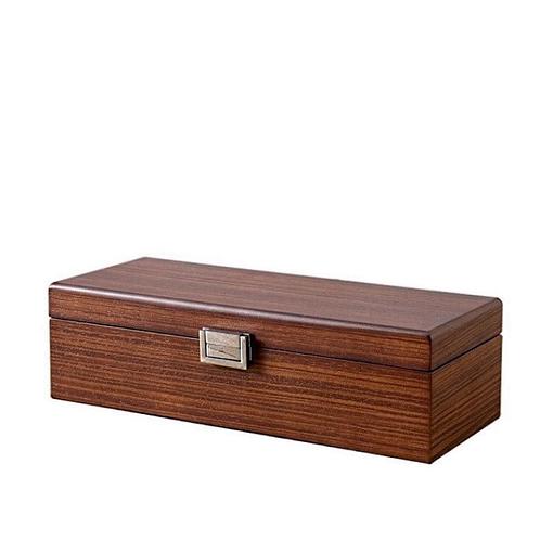 Vue de 3/4 de la boîte à bijoux en rectangulaire (fermée)