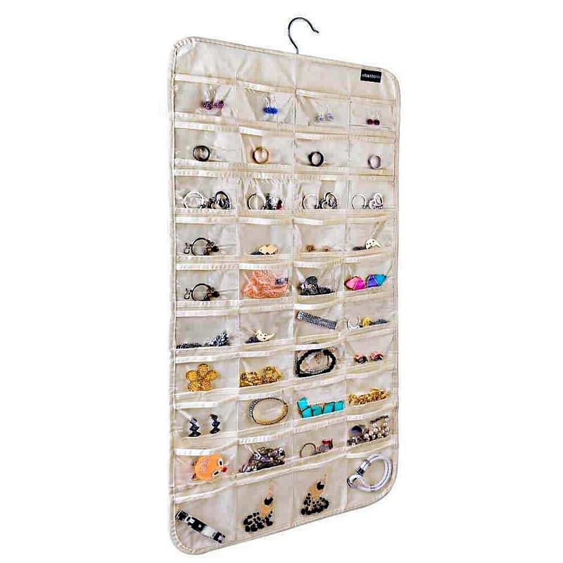 Organisateur en plastique à crochets avec nombreux compartiments hermétiques