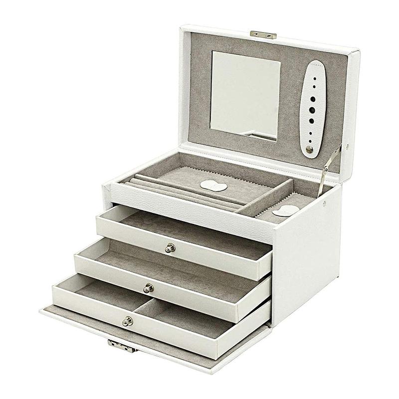 """Image représentant la collection """"boîtes en cuir blanc"""""""